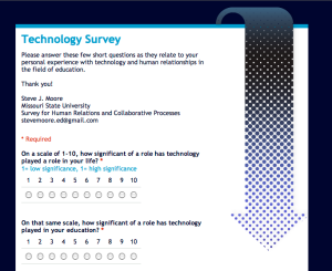 The arrow on this survey points down, down to business